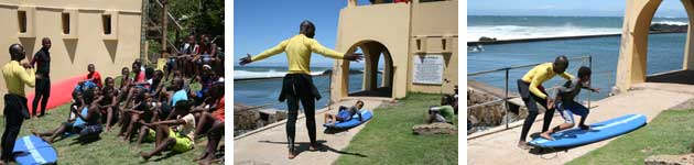 Surfing Lessons Mr Price Pro Redcap Charity