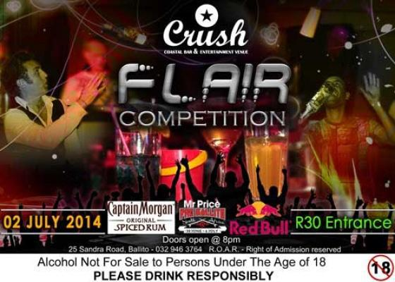 Flair Competition held at Crush Nightclub in Ballito.
