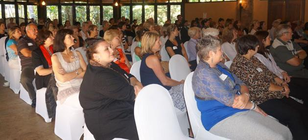 An enthralled audience at the recent talk by Patrick Holford discussing the 5 Rules for Optimum Living