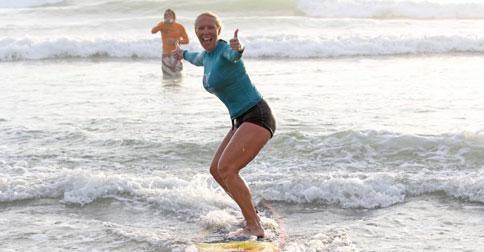 Surfing Lessons for Mom Secret Spot
