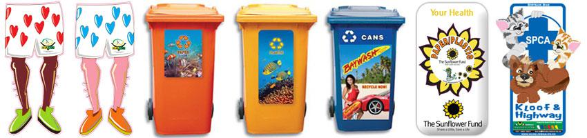 Custom Wheelie bin Stickers