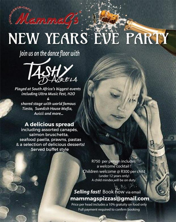New Years Eve in Ballito at MammaGs