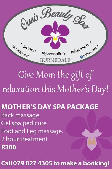Mothers Day at Oasis Spa