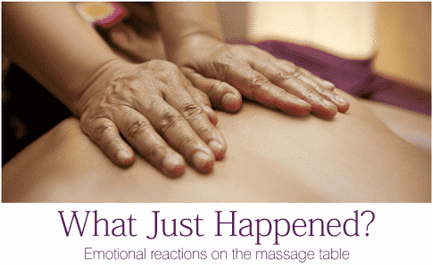 Massage relieves emotional stress