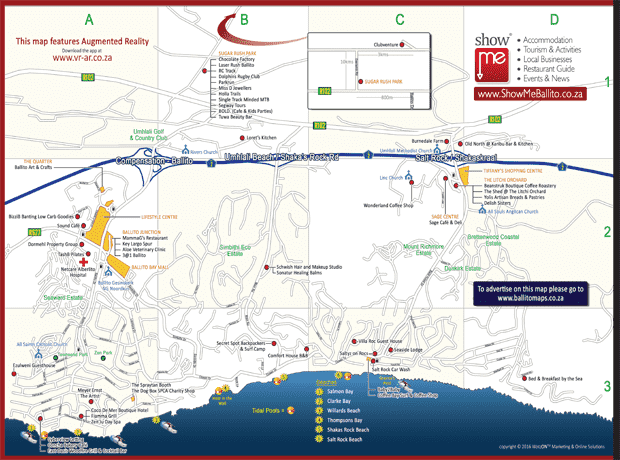 A3 fold-out maps of Ballito