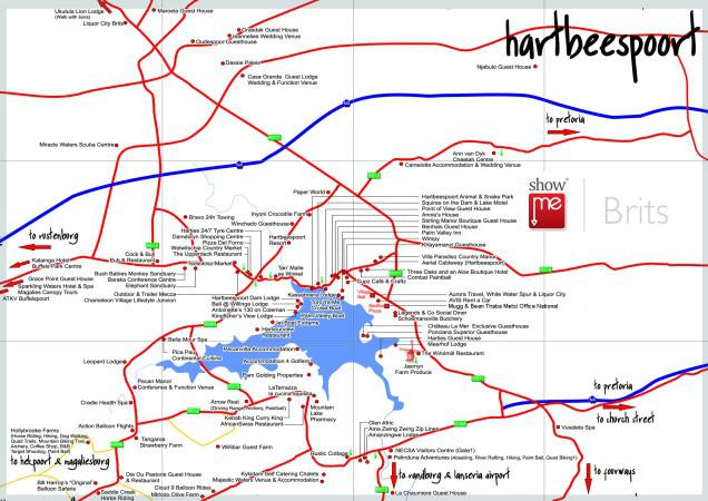 Brits Maps | ShowMe Brits