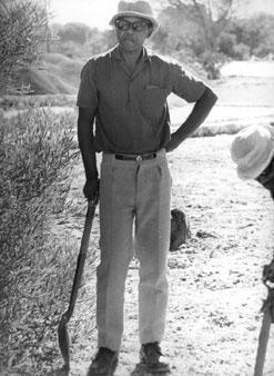 Nelson Mandela on Robben Island, South Africa