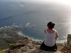 View of Camps Bay from the top of Lion's Head Peak, Cape Town