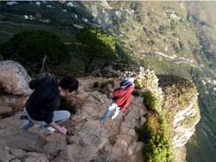 Climbing down Lions head