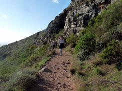 Hiking Up Lion's Head, Cape Town
