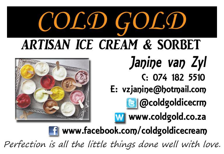 Cold Gold & Summer Flavour Delights