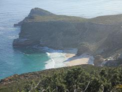 View from Cape Point to Cape of Good Hope