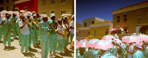 The Kaapse Klopse playing instruments