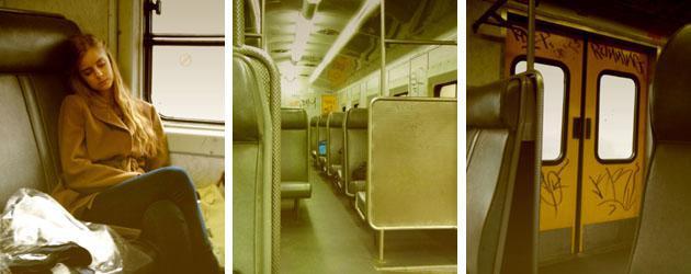 Interior of the train, Christel Van Aswegen fast asleep