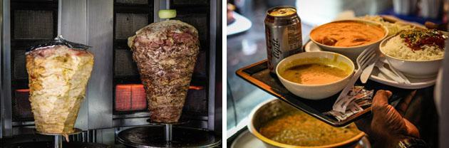 shawarma meat and counter service