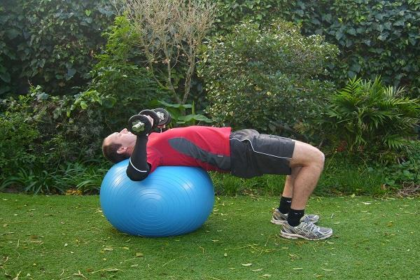 Chest Press on Swiss Ball