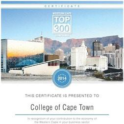 College of Cape Town Receives Prestigious Business Award