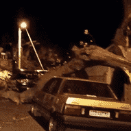 Cape Town wind plays havoc with roads