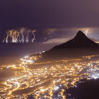 Beautiful Images of Cape Town Thunderstorm