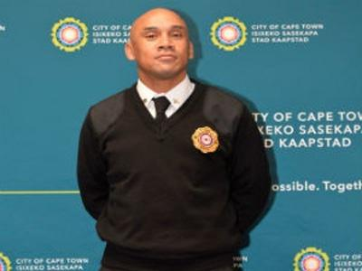 The City of Cape Town firefighter Lorenzo Johannes