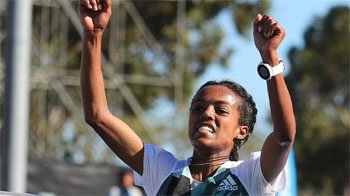 Ethiopia claim men's and women's titles