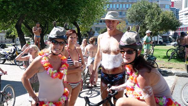World Naked Bike Ride - Cape Town