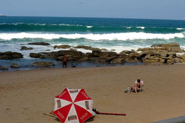 Catching some rays at Umhlanga's beach.