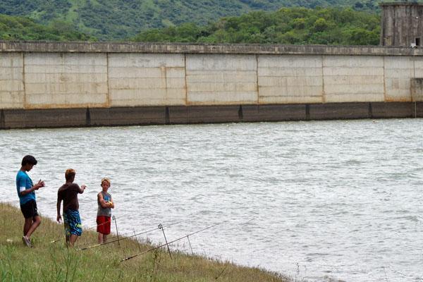 Fishing at Nagle Dam