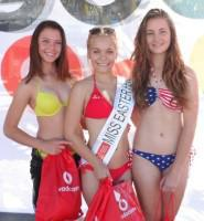 Myra Basson (JHB), Margate 2014 Vodacom Miss Easter Fever Monique Killian (PTA) and Shiloh James (JHB).