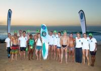 The 16 swimmers who took part in the Four Elements Ocean Challenge on Saturday, 03 May to create awareness for next month's World Oceans Day.