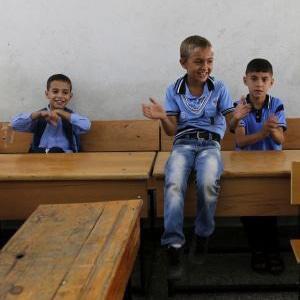 Gaza children return to school after war