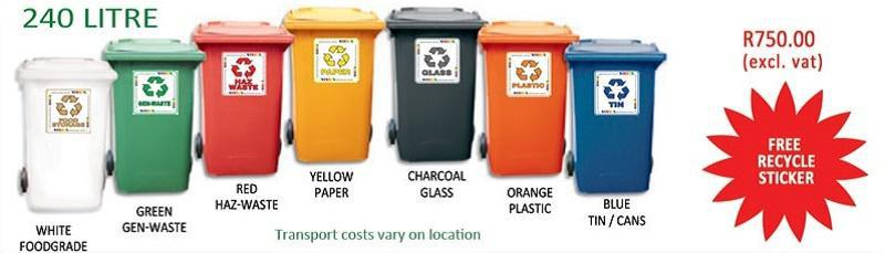 240 LItre Wheelie Recycling Durban