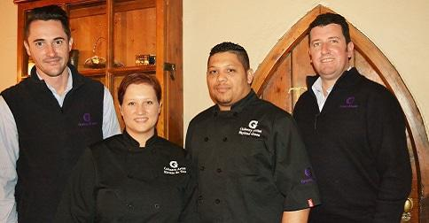 The Granny Mouse Team: Mouton and Kirstie du Toit, chef Wayland Green and hotel general manager, Sean Granger.