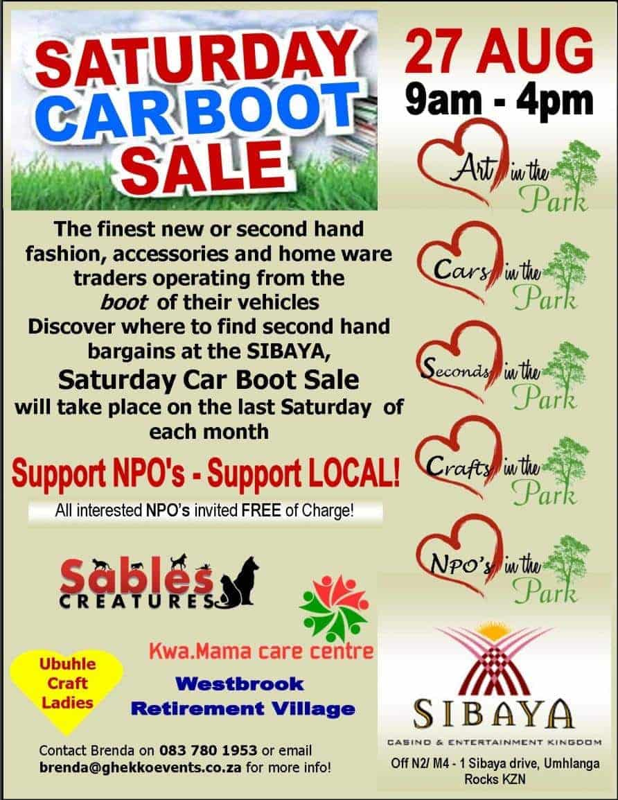 Saturday Car Boot sale & Market   Durban
