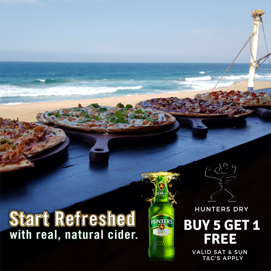 Double VODKA & Redbulll R50 (sat & sun)  Hunters Dry Buy 5 and get 1 free (sat & sun)