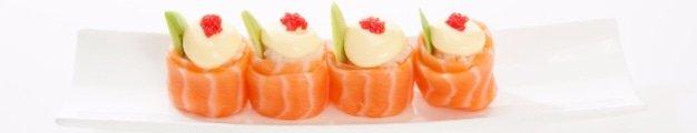 Salmon Rolls - Shanghai Chinese Restaurant & Sushi Bar