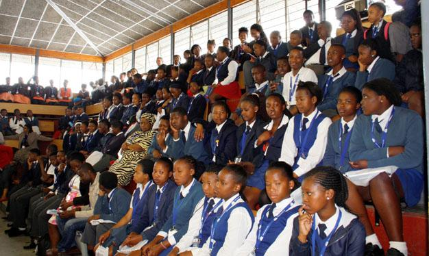 CAPTIVATED: High school pupils at the Maritime and Shipping Career Expo