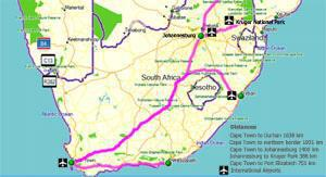 Distances-between-towns-in-South-Africa-icon