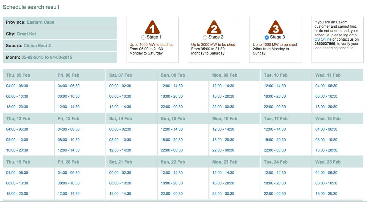 Eskom Load Shedding Schedule: 3 Steps To Accurate Load-shedding Schedules In East London