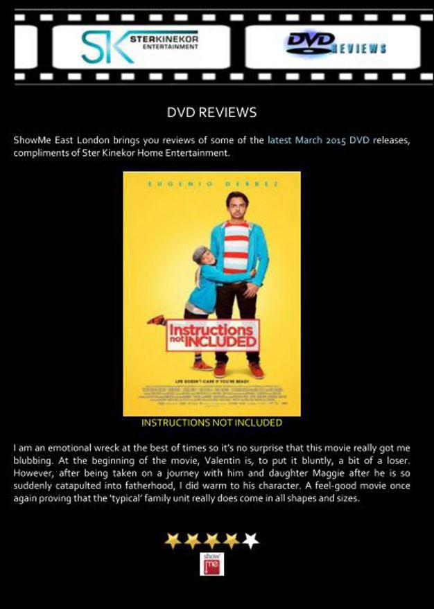 Instructions Not Included Dvd Review March 2015 East London