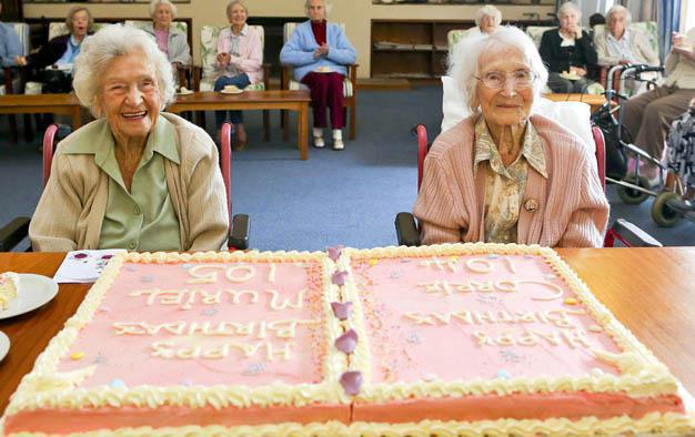 Gracious Muriel Lack And Kennersley Park Roommate Corrie Gwilt Celebrated Their Birthdays On Monday