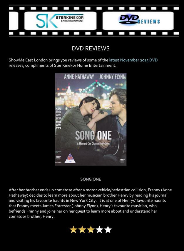 Song One – Ster Kinekor Home Entertainment DVD Review | News