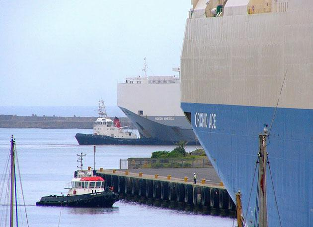 Car Carriers 'Orchid Ace' and 'Hoegh America' in East London Harbour - Rod Bally