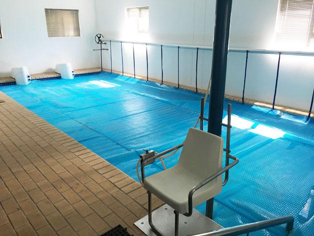 The Hydrotherapy pool where the Biokineticist helps treat patients for a range of injuries or ailments