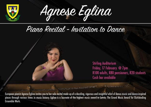 European Pianist Agnese EGLINA Invites You To Her Solo Recital Made Up Of A Dazzling Vigorous And Insightful Whirl Dance Music Inspired Pieces