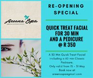 Areena Spa May 2018 Facial Pedi combo[1] copy copy