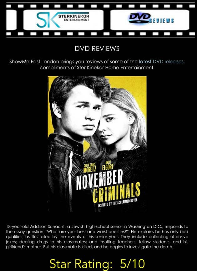 November Criminals DVD Review