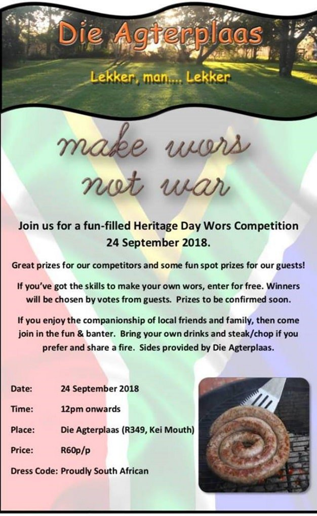 Heritage Day Wors Competition | East London