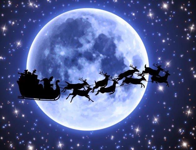 santa-and-reindeer-in-front-of-moon