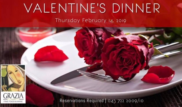 Grazia Fine Food & Wine Valentines Day Dinner